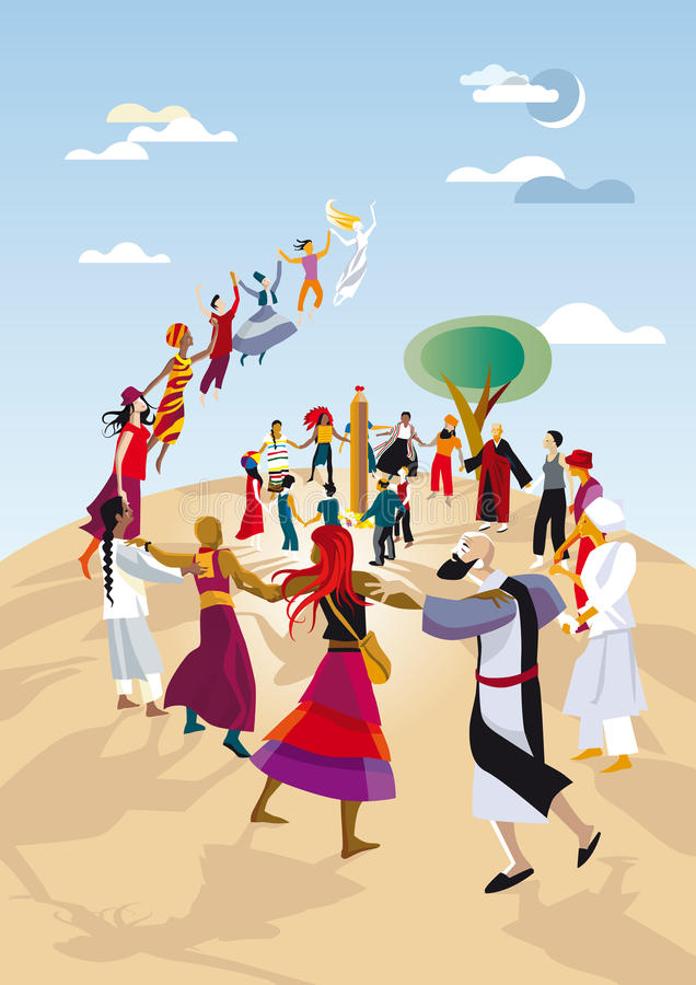 Círculo espiritual ilustração royalty free