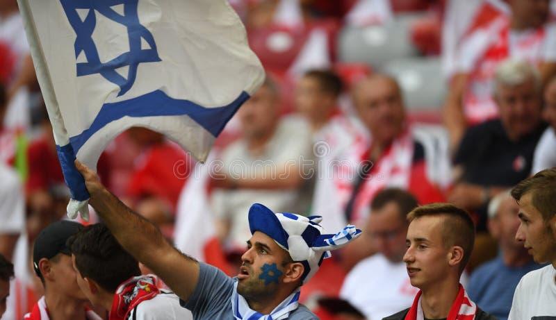 Círculo 2020, fase do grupo, 4:0 de qualificação do EURO das vitórias do Polônia com Izrael foto de stock royalty free