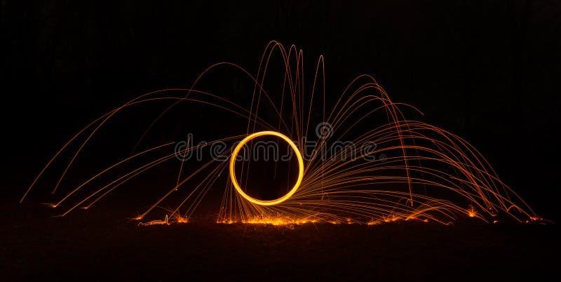 Círculo flamejante 2 imagens de stock