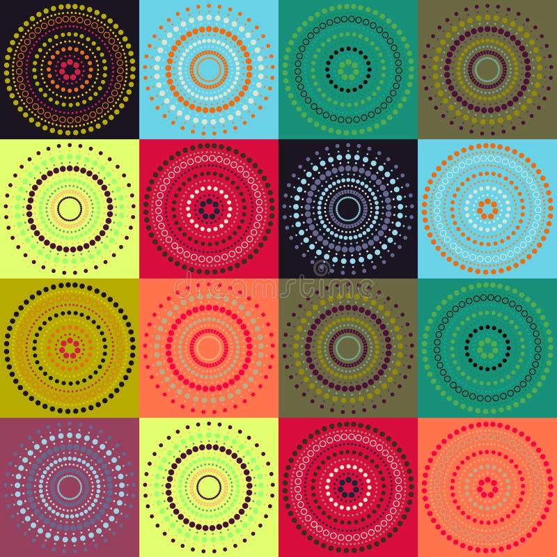 Círculo - fondo del color en colores pastel ilustración del vector