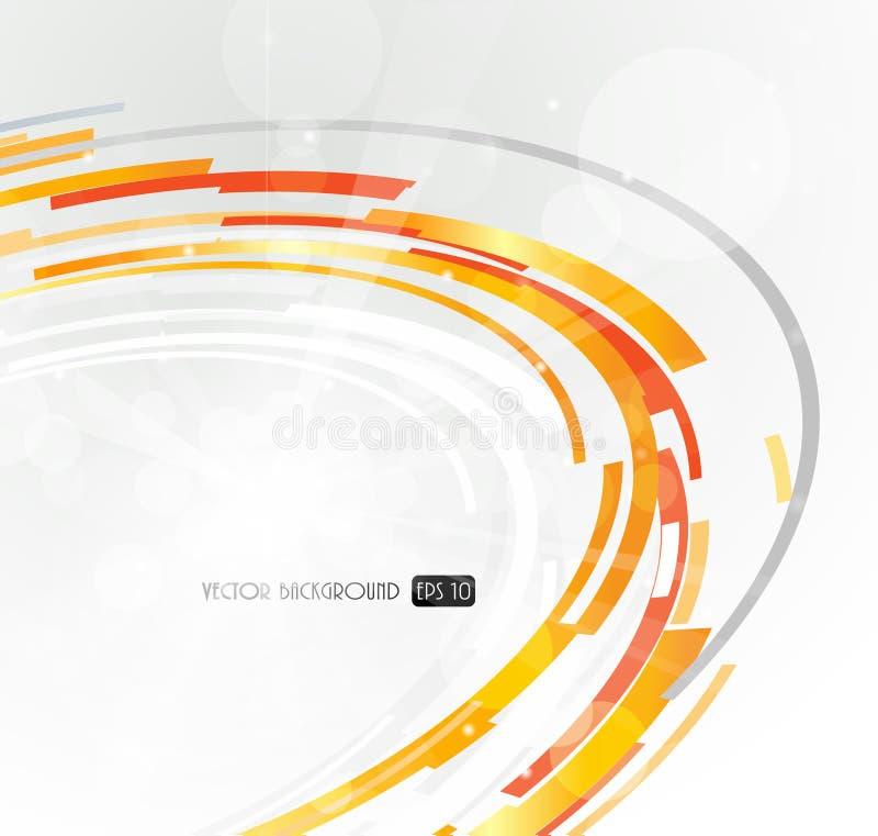 Círculo futurista abstracto de la naranja 3D. libre illustration