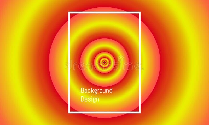 Círculo grande abstracto a la pequeña alineación de centro dise?o hermoso colorido del fondo Ilustraci?n EPS10 del vector stock de ilustración