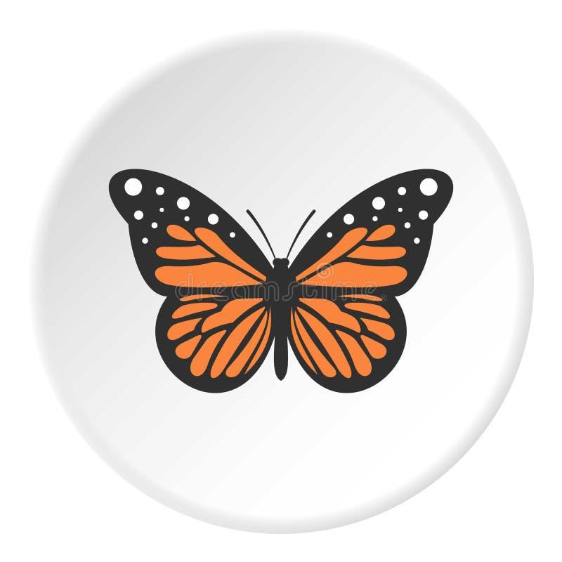 Círculo grande do ícone da borboleta ilustração stock