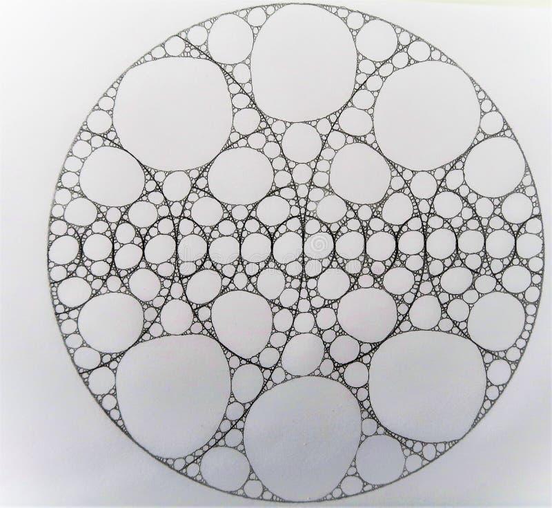 Círculo hecho de círculos y de ligns stock de ilustración