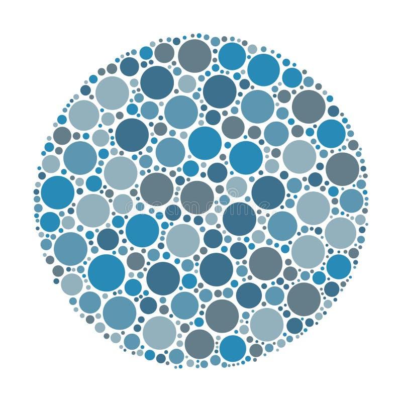 Círculo hecho de puntos libre illustration
