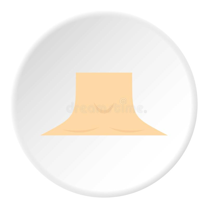 Círculo humano del icono del cuello stock de ilustración
