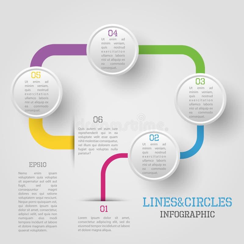 Círculo infographic ilustração stock