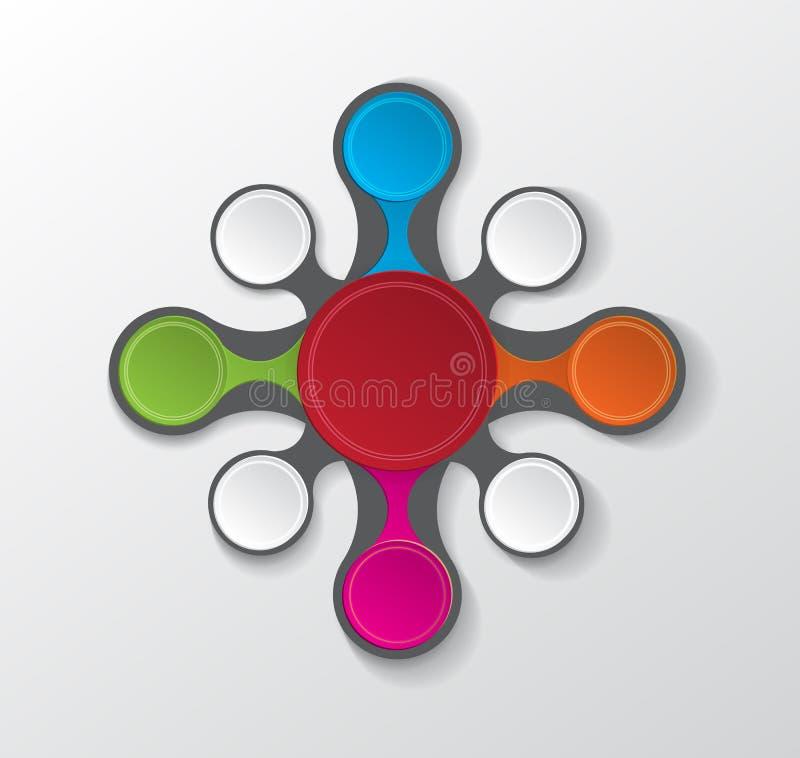 Círculo infographic colorido ilustração do vetor