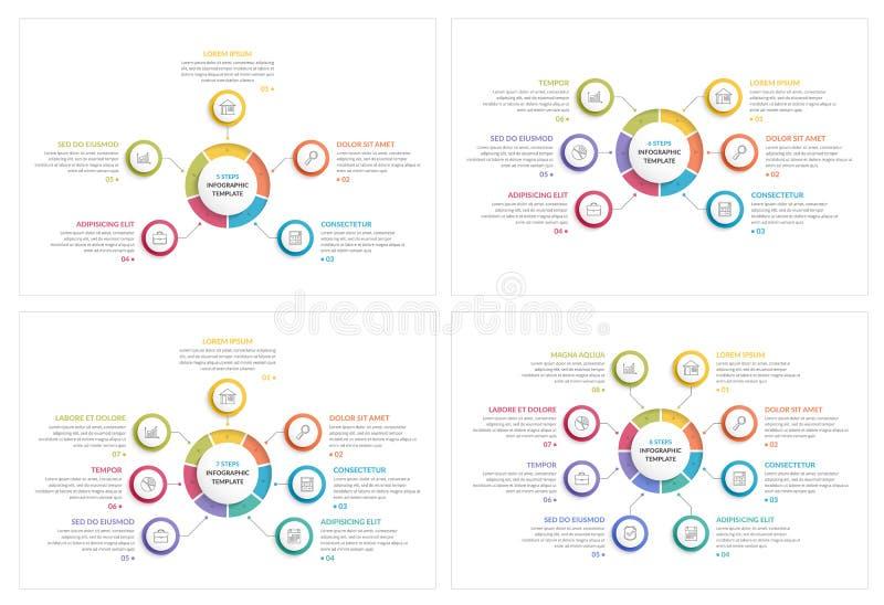 Círculo Infographics ilustración del vector