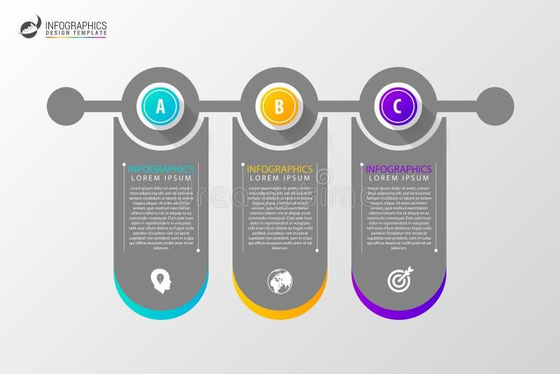 Círculo Infographics Molde para o diagrama Ilustração do vetor ilustração royalty free