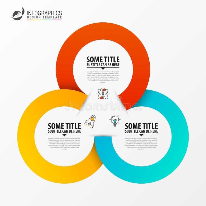 Círculo Infographics Molde para o diagrama Vetor ilustração stock