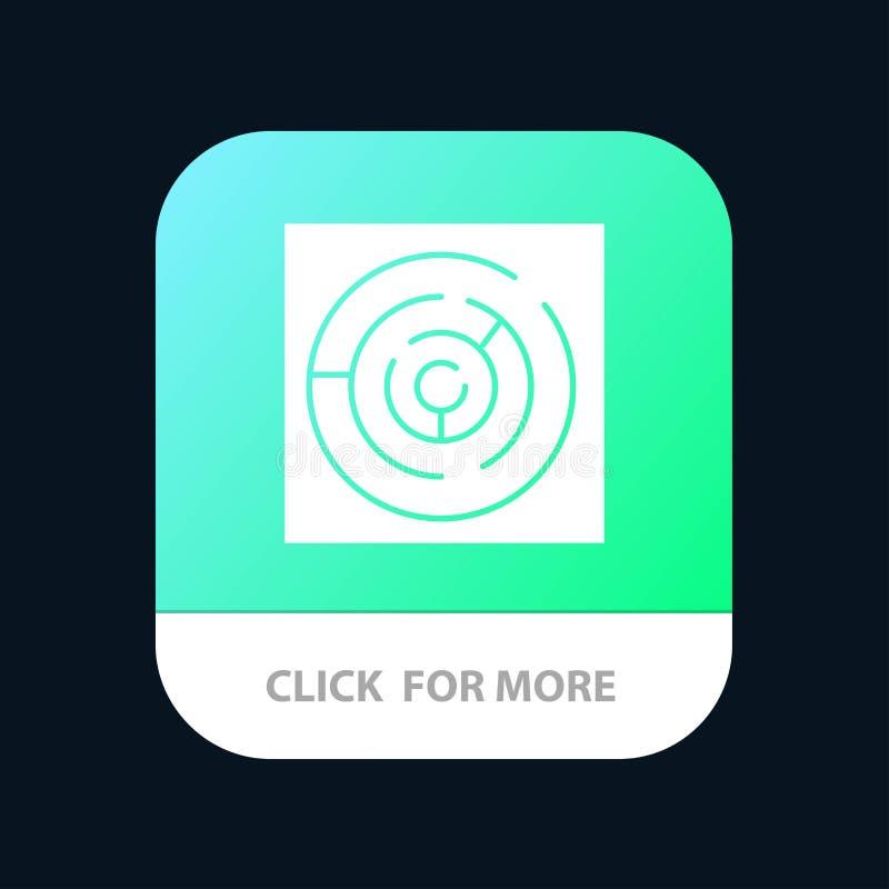 Círculo, labirinto do círculo, labirinto, Maze Mobile App Button Android e do Glyph do IOS versão ilustração stock