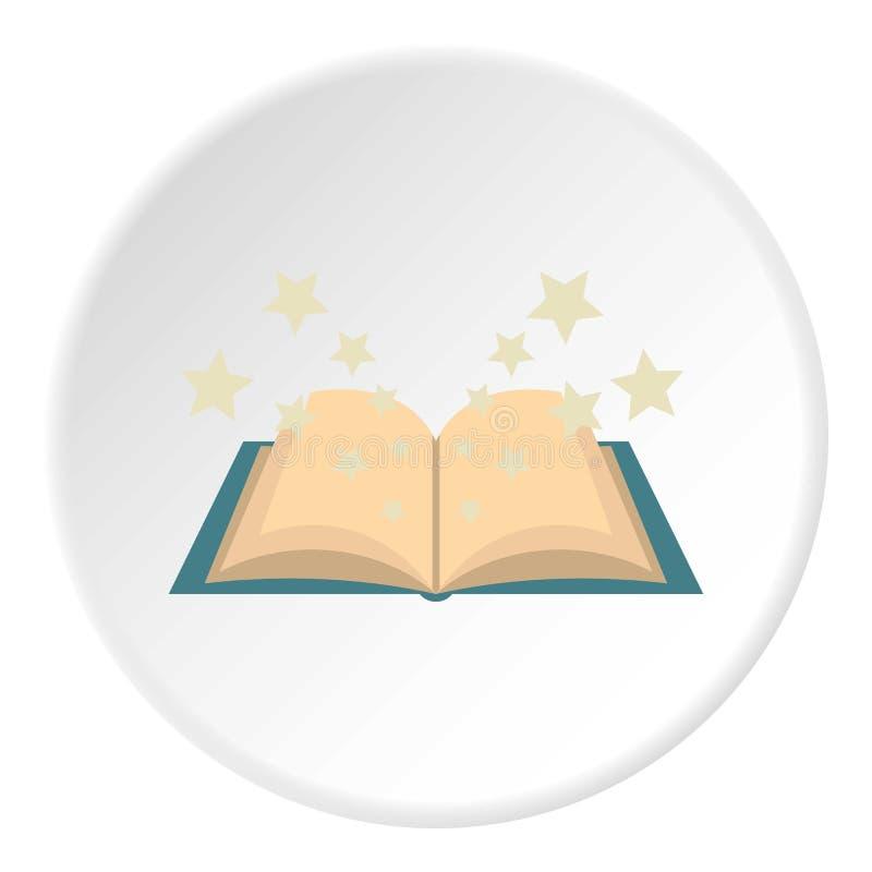 Círculo mágico do ícone do livro ilustração royalty free
