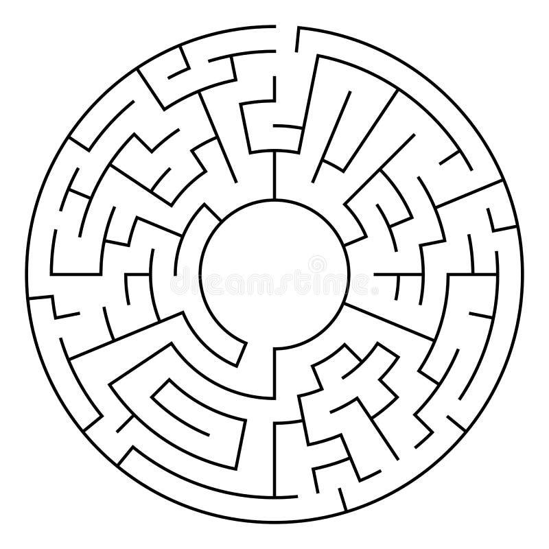 Círculo Maze Vector stock de ilustración