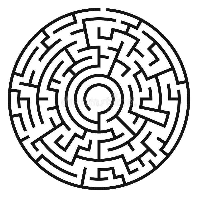 Círculo Maze Vector libre illustration