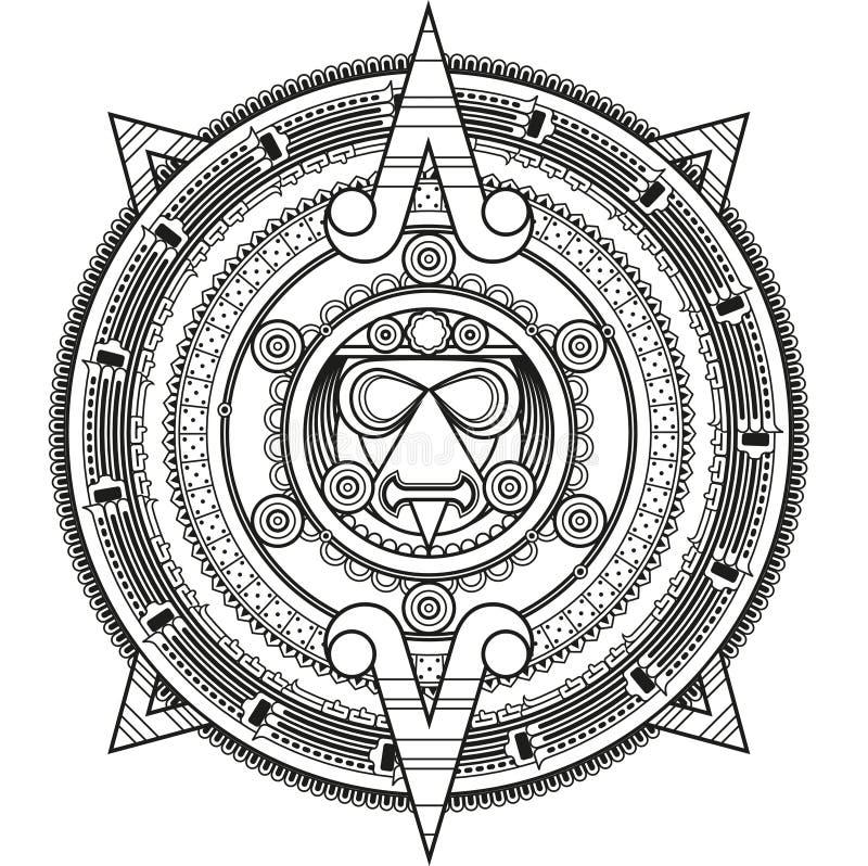 Círculo modelado ao estilo do Maya ilustração stock