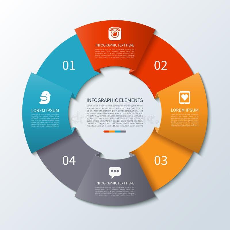 Círculo moderno del infographics de la flecha libre illustration
