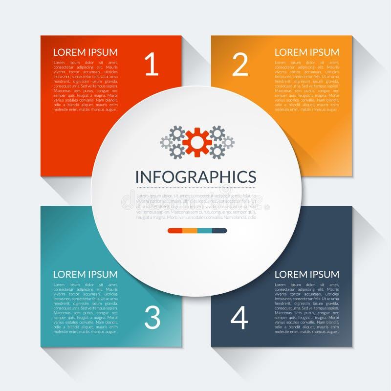 Círculo moderno del infographics del negocio stock de ilustración