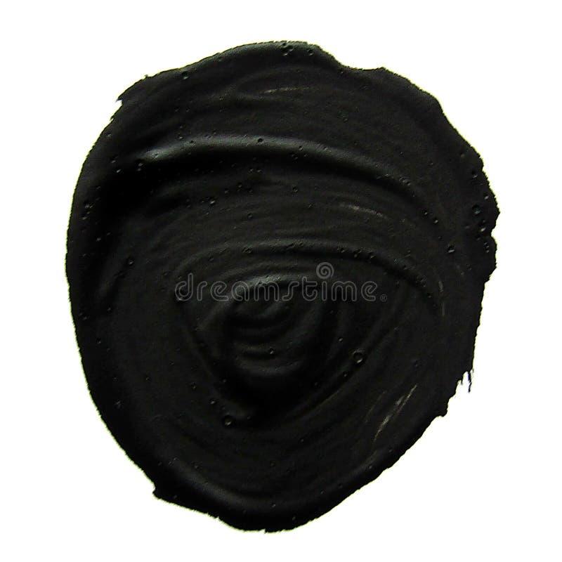 Círculo negro Movimiento abstracto del cepillo del aguazo stock de ilustración