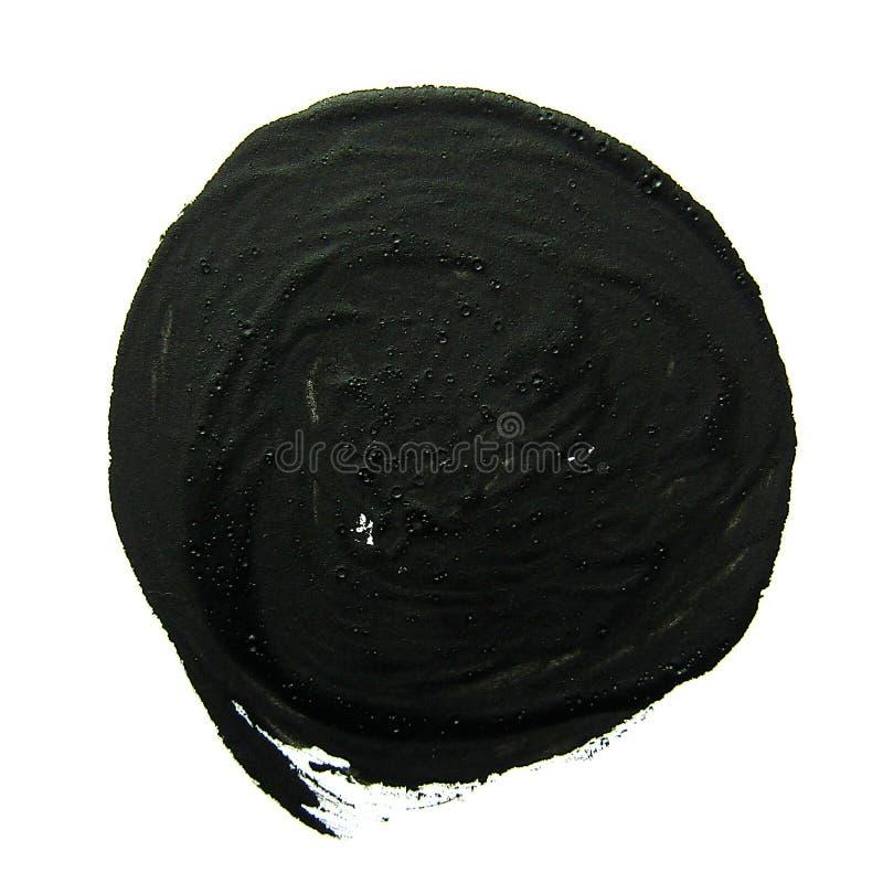 Círculo negro Movimiento abstracto del cepillo del aguazo ilustración del vector