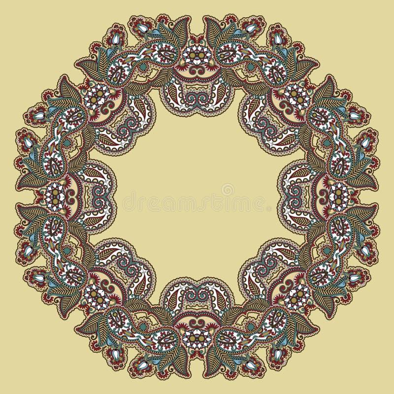 Círculo ornament ilustración del vector