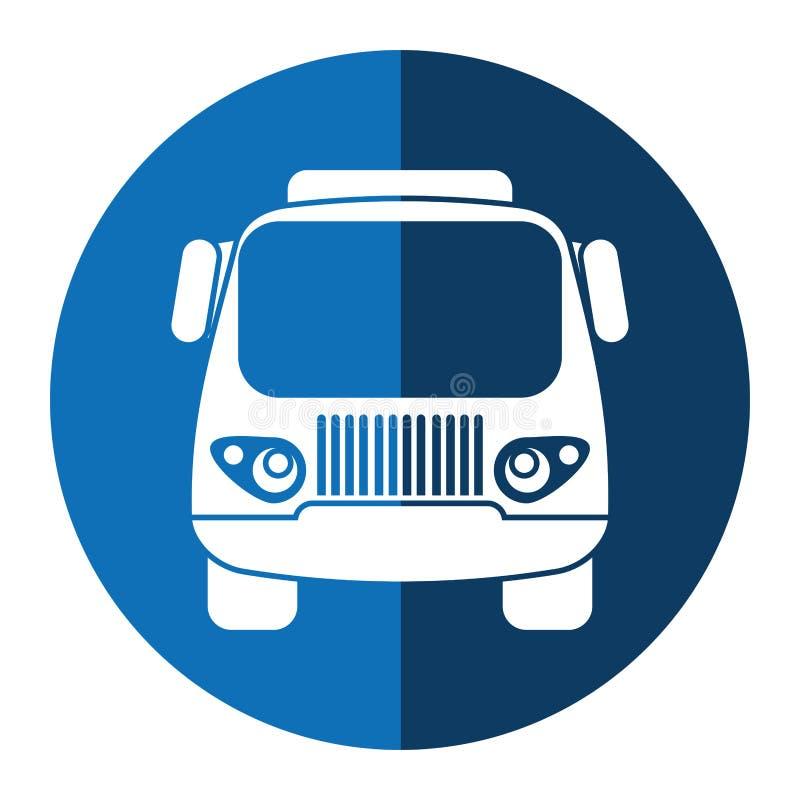 Círculo pequeno do azul do transporte da carga do caminhão ilustração do vetor