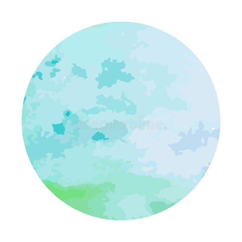 Círculo pintado à mão da aquarela abstrata Elementos bonitos do projeto do círculo da aquarela Fundo da aguarela ilustração stock