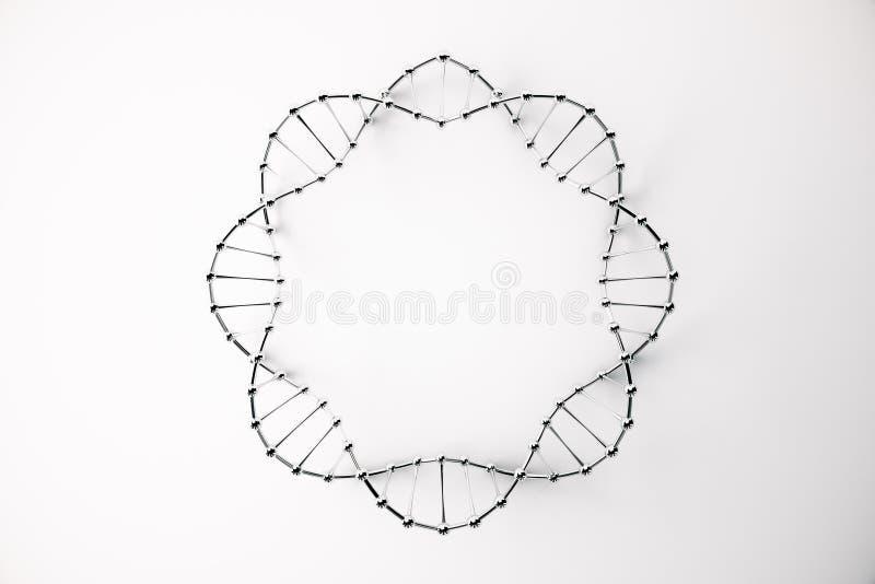 Círculo preto do ADN ilustração stock