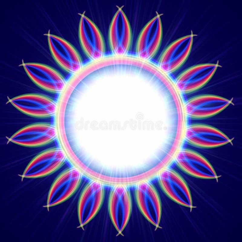 Círculo redondo de las luces coloridas del arco iris ilustración del vector