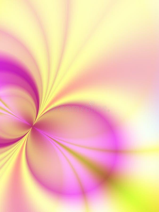 Círculo rosado de los rayos ligeros del oro stock de ilustración