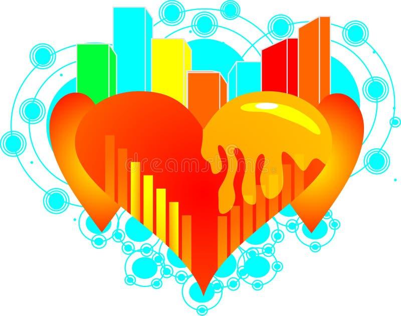 Círculo surpreendente do amor ilustração do vetor