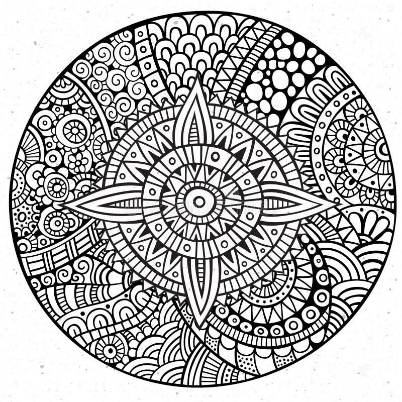 Círculo tirado do vetor mão decorativa ilustração royalty free
