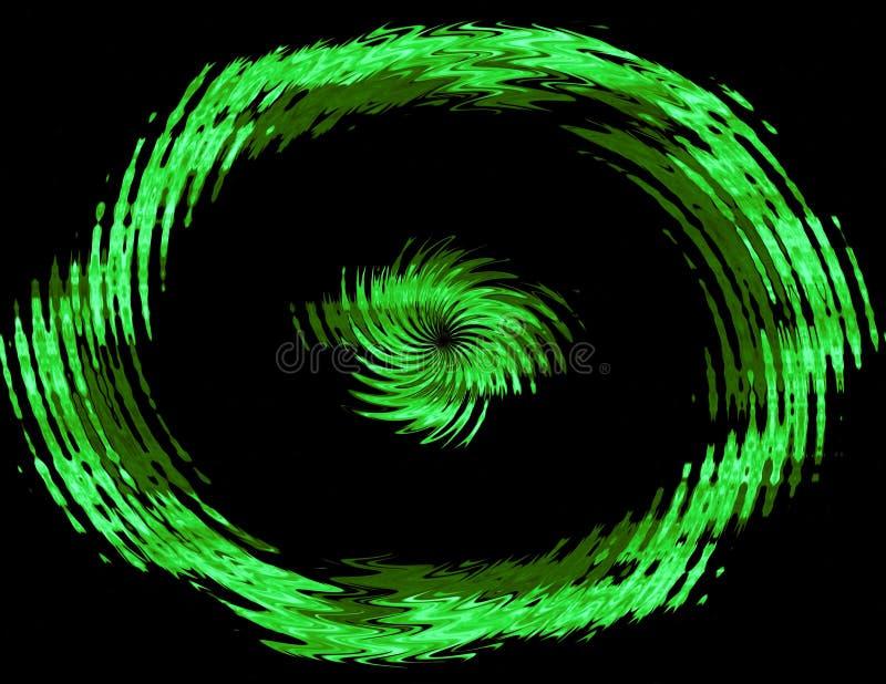 Círculo verde abstrato ilustração royalty free