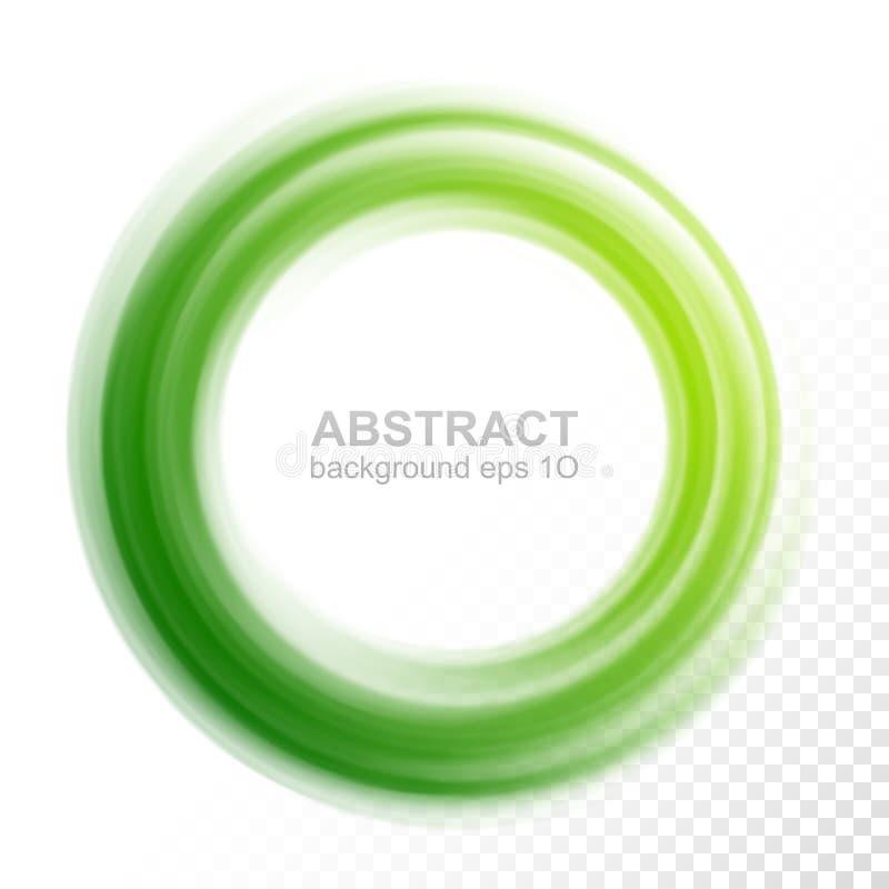 Círculo verde transparente abstrato do redemoinho ilustração do vetor