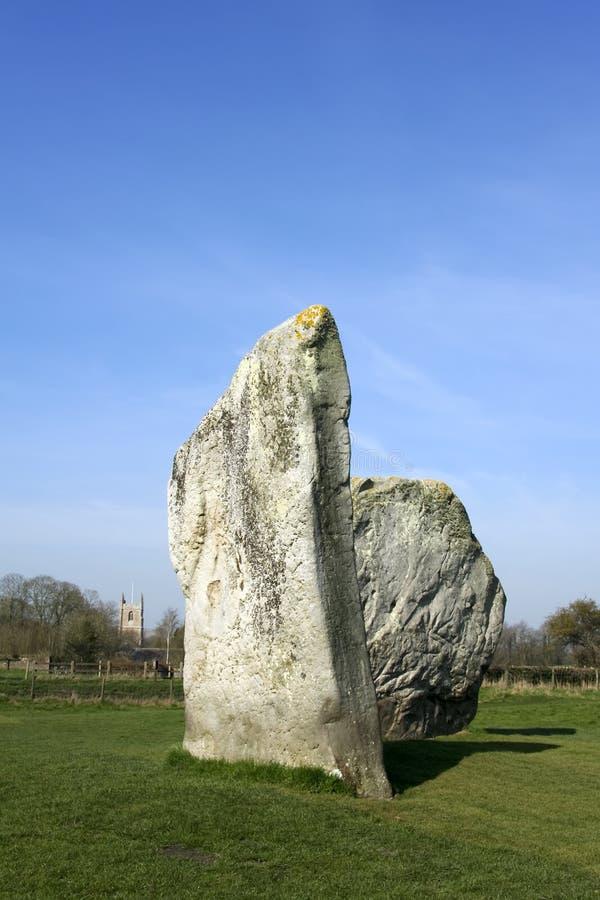 Círculo Wiltshire de la piedra del anillo de Avebury fotografía de archivo libre de regalías