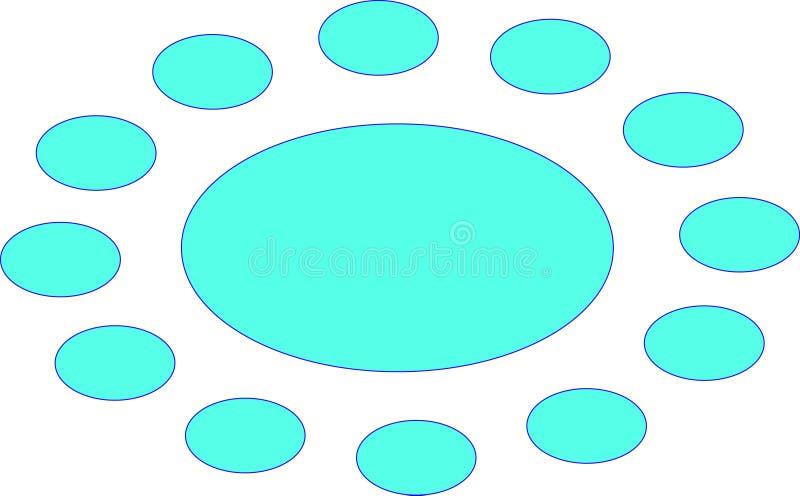 círculos ilustração do vetor