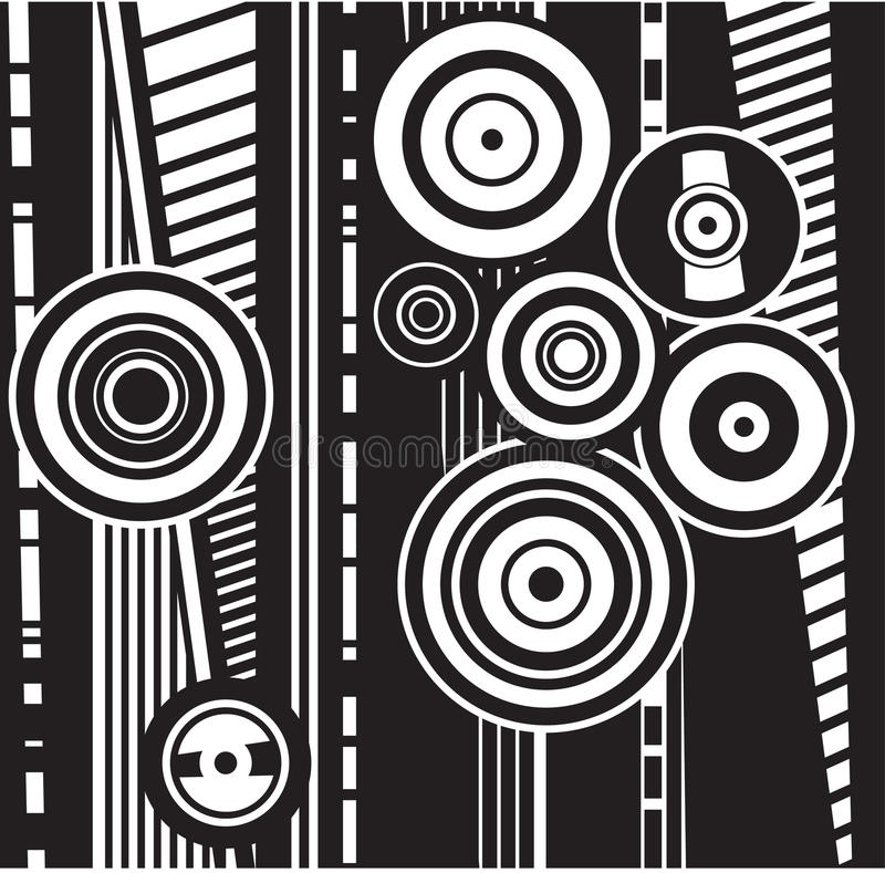 Círculos ilustración del vector