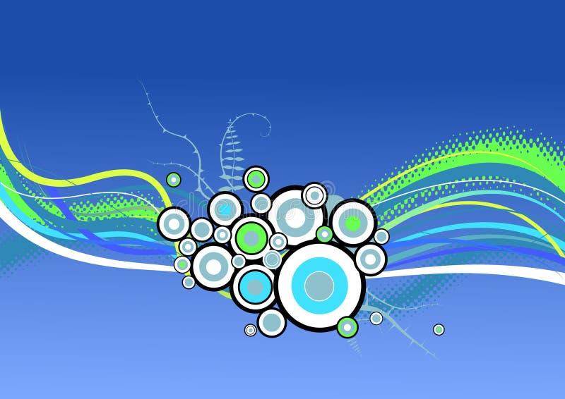 Círculos abstractos con las rayas. stock de ilustración