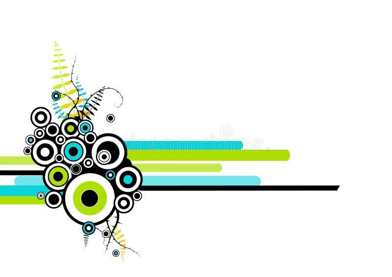 Círculos abstractos con las rayas. ilustración del vector