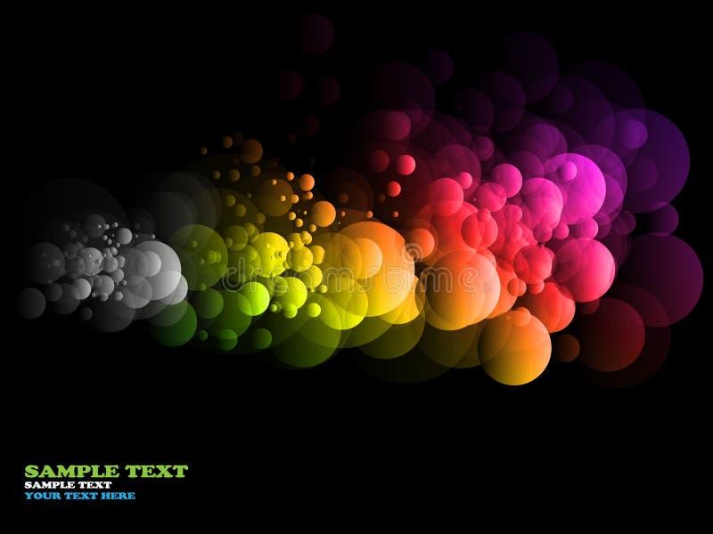 Círculos abstractos del arco iris ilustración del vector