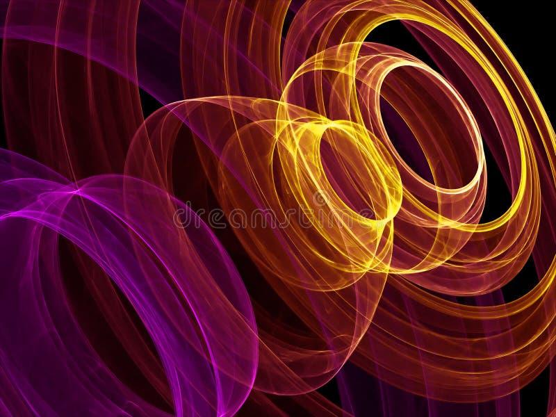 Círculos abstractos frescos ilustración del vector