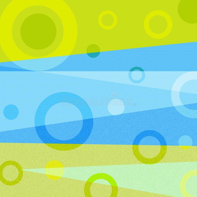 Círculos abstratos ilustração stock