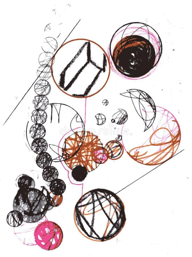 Círculos abstratos ilustração do vetor