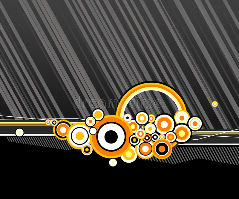 Círculos abstratos com linhas. ilustração stock