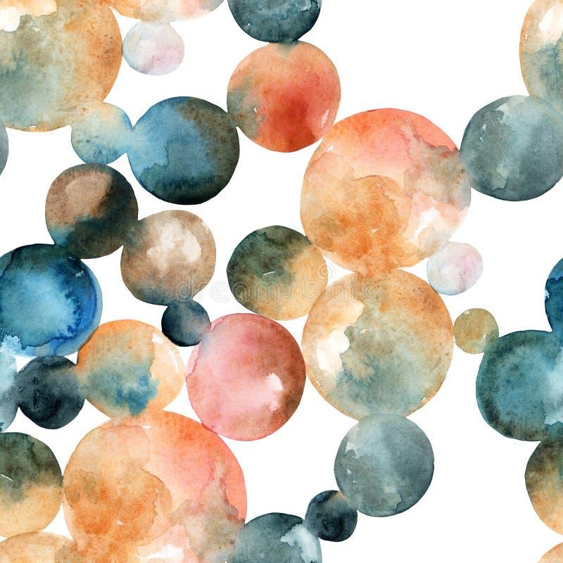 Círculos abstratos da aguarela ilustração stock
