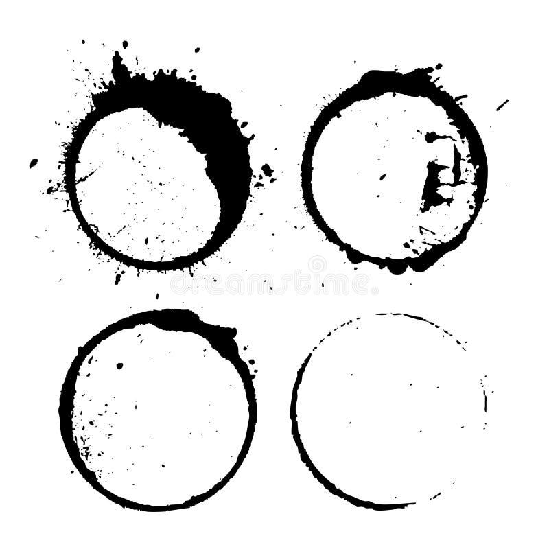 Círculos abstratos do respingo da pintura ilustração stock