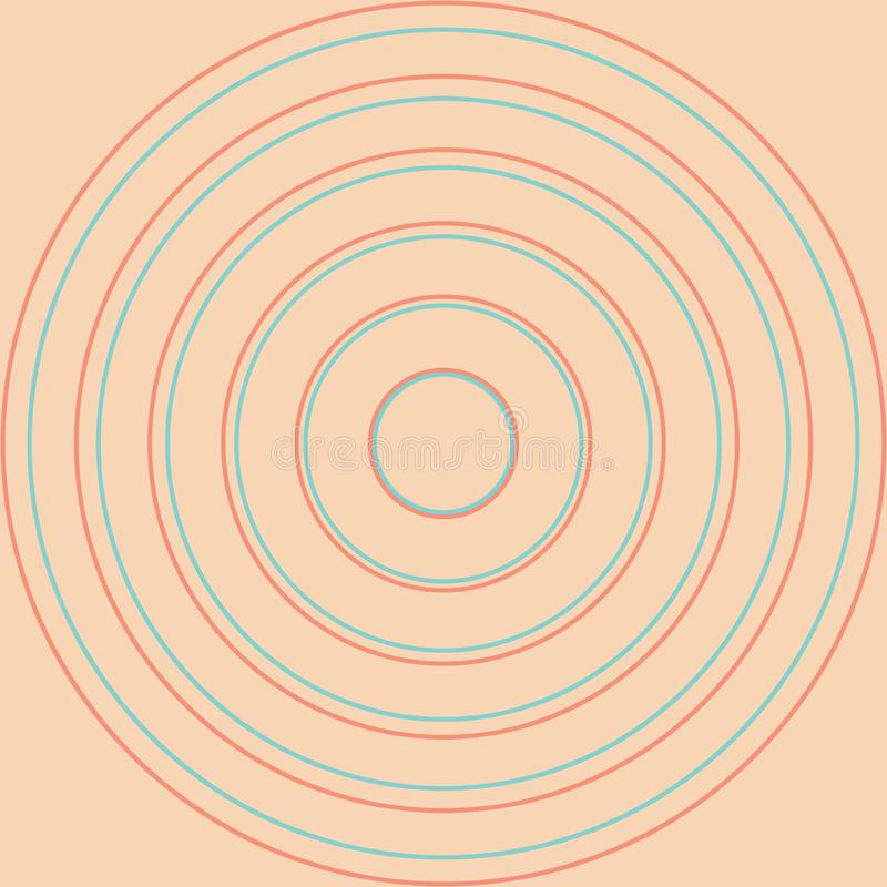 Círculos amarillos en filas ilustración del vector