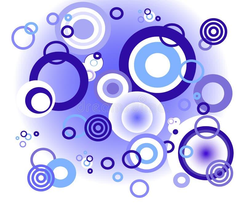 Círculos azuis do fundo ilustração royalty free