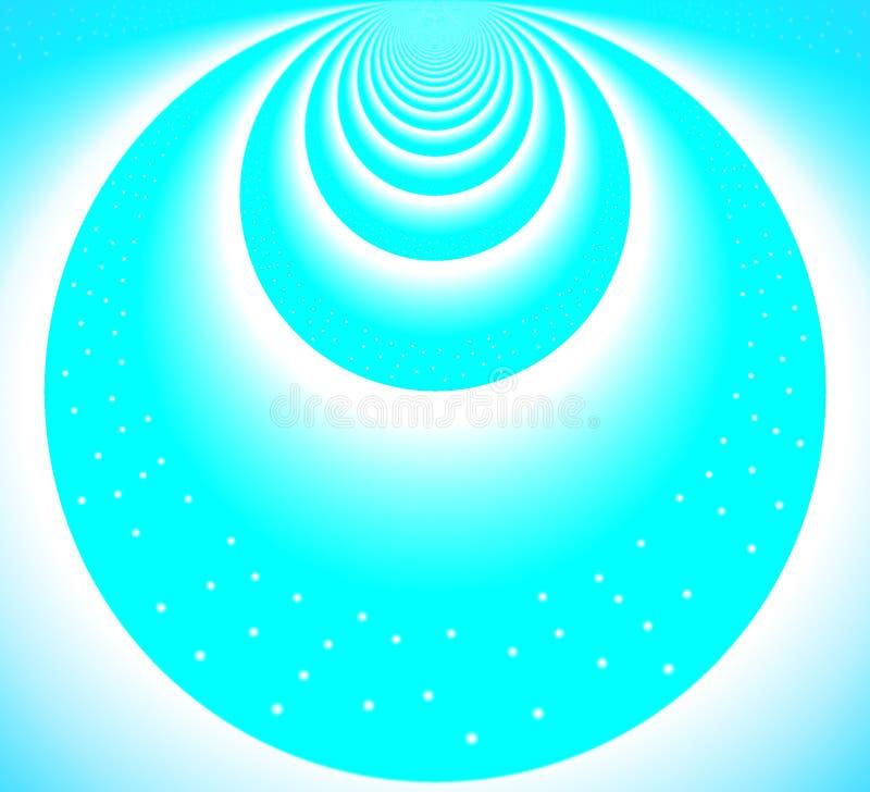 Círculos azules claros del cielo stock de ilustración