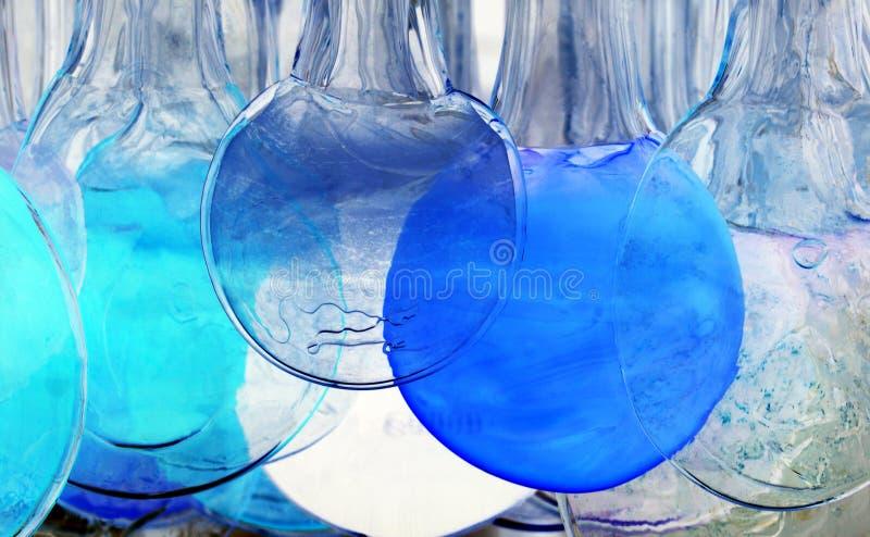 Círculos azules y transparentes imagen de archivo